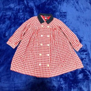 Tommy Hilfiger plaid button up dress red